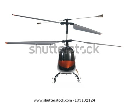 Remote control vehicles isolated against a white background