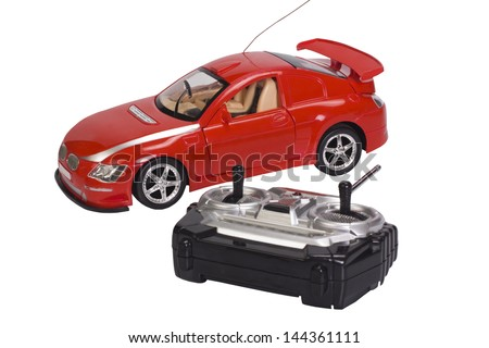 Remote controlled toy car with a game controller Stock photo ©
