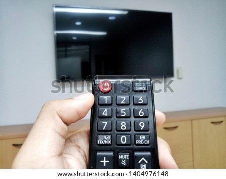 Remote controlled was used to controll smart TV from far a way.