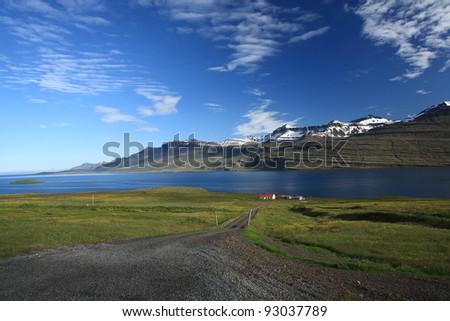 Remote farm in Reydarfjordur, Iceland