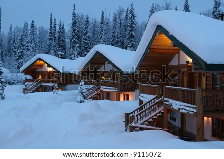 Remote Mountain Chalet's At Dusk
