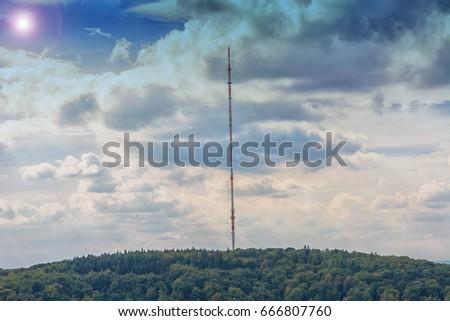 Remote signaling tower, antenna for transmitting various radio signals. #666807760