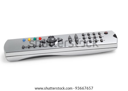 remote tv control access monitoring support isolated on white background