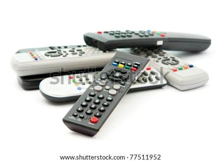Remote TV remote on a white background