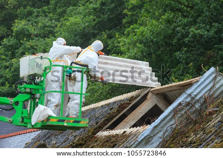 Removal of fiber cement containing asbestos