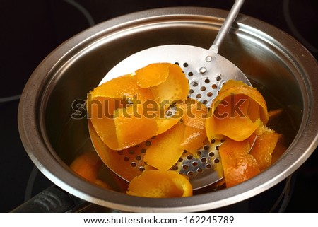Remove orange peels from pan with syrup with slotted spoon. Candied Orange Zest Cooking. Series.