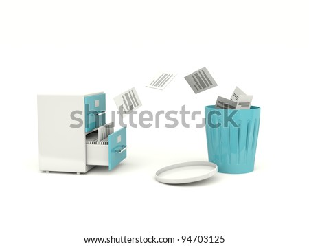 Removing files from archive cabinet