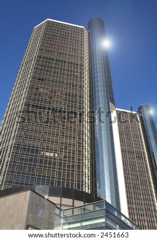 Renaissance centre - one of the modern architecture's in Detroit