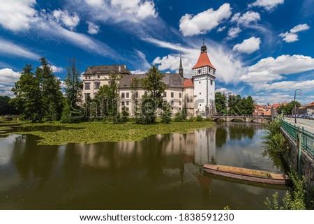 Renaissance chateau Blatna near Strakonice in southern Bohemia, Czech Republic Stock photo ©