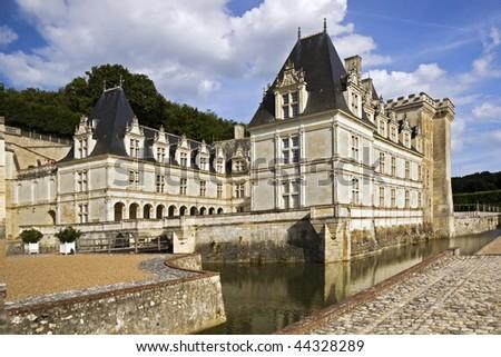 Renaissance Chateau de Valencay with fancy military decoration
