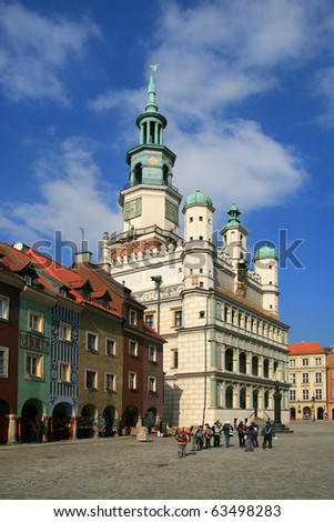 Renaissance town hall in Poznan, Poland, Europe