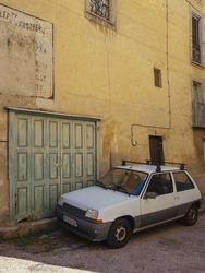 Renault five 5 in villafranche de conflent, France