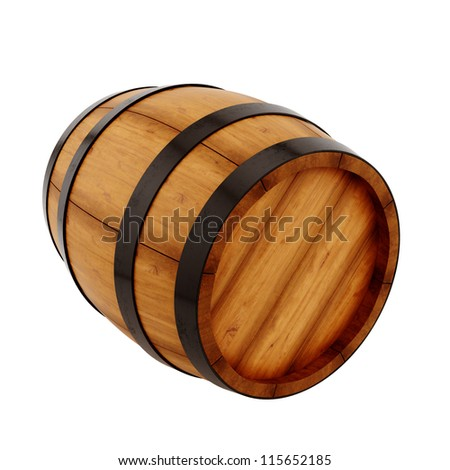 render of a barrel, isolated on white