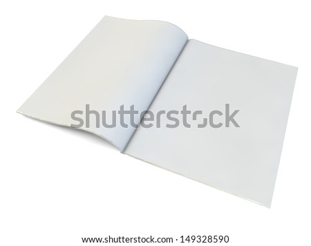 render of a blank magazine