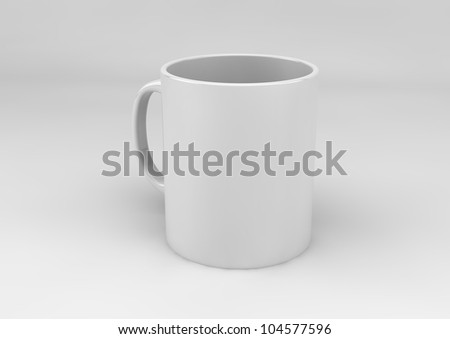 render of a breakfast cup
