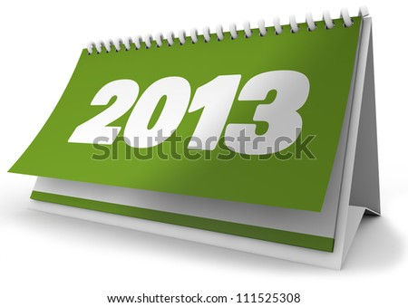 render of a 2013 calendar - stock photo