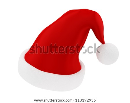 render of a Christmas hat, isolated on white