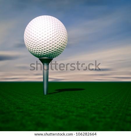 Render of a golf ball