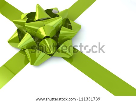 render of a green bow