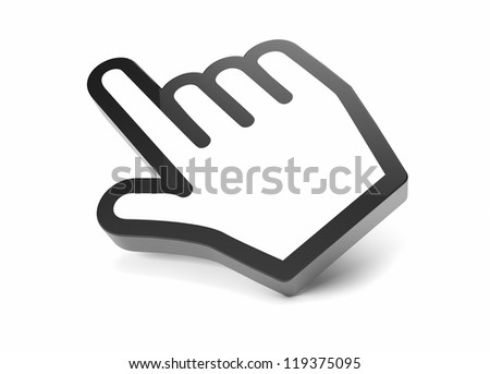 render of a hand cursor icon