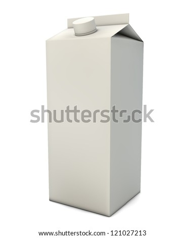 render of a milk packaging