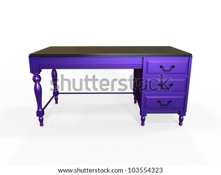 Render of a Modern Colonial Inspired Desk