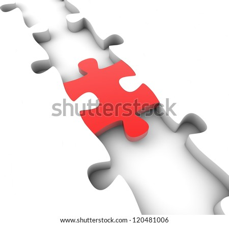 render of a puzzle piece