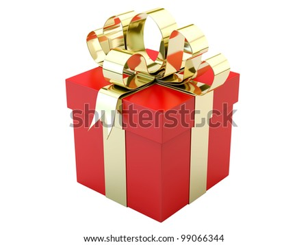 render of a red gift box