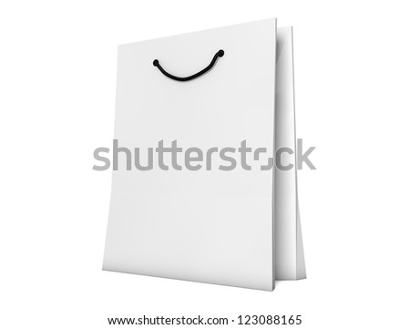 render of a shopping bag