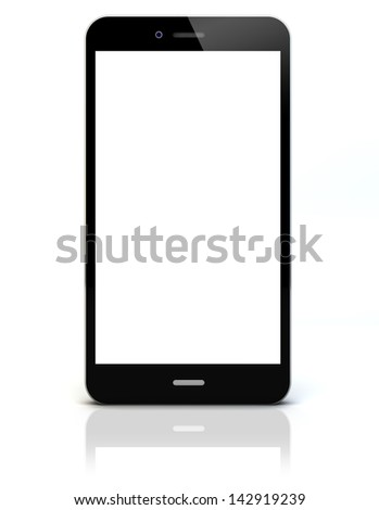 render of a smartphone with empty screen
