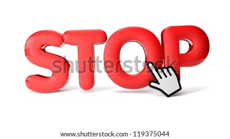 render of a stop icon