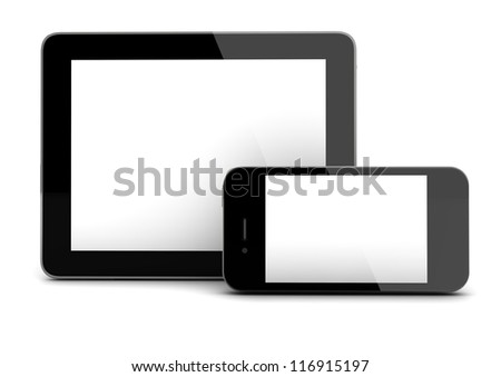 render of a tablet and a smart phone
