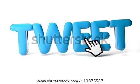 render of a tweet icon