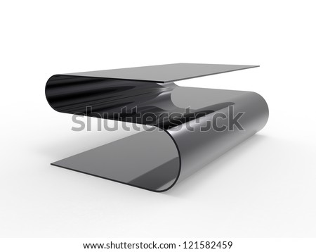 Render of a unique coffee table design
