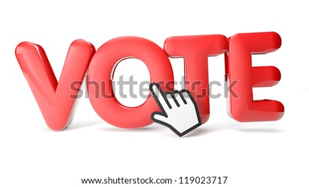 render of a vote icon