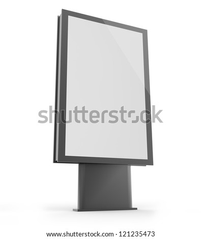 render of an empty billboard