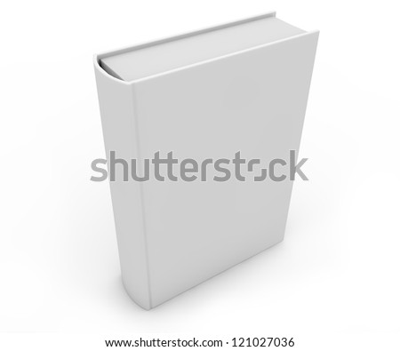 render of an empty book - stock photo