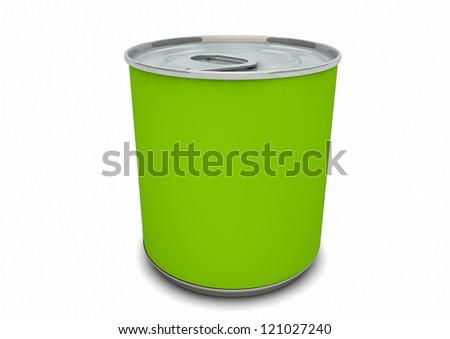 render of an empty green can