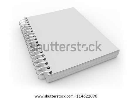 render of an empty notebook - stock photo