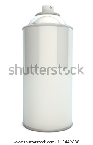 render of an empty spray can