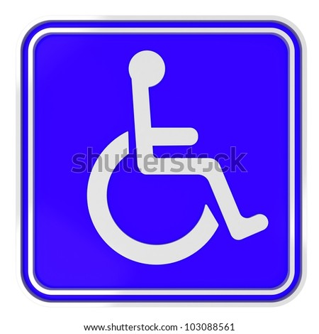 render of blue disabled icon on white