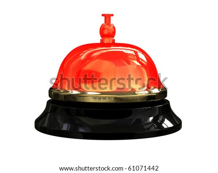 Render of burning hot reception bell