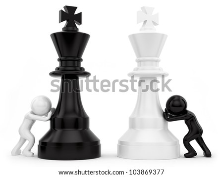 render of chess pieces