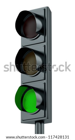 render of green traffic lights
