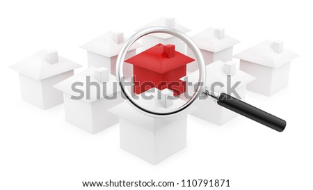 render of houses under a magnifying glass