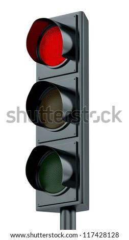 render of red traffic lights