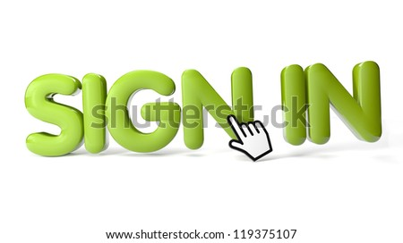 render of sign in icon