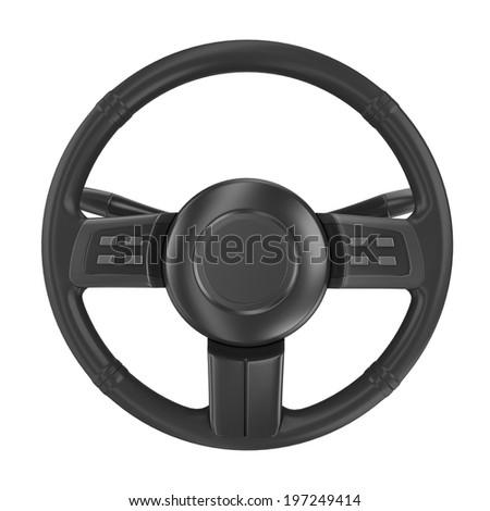 render of steering wheel isolated