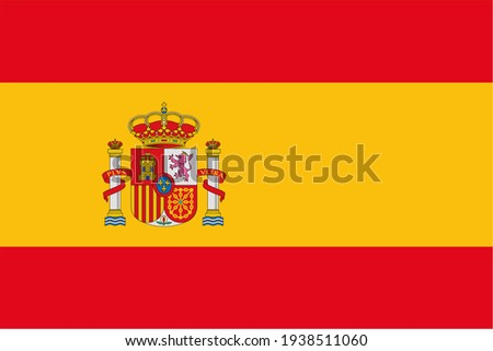 Render of the Kingdom of Spain flag. Perfect for printing on T-shirts, posters, wall murals, mugs, glasses, sun loungers, banners, roll-ups and any other printing materials. Image jpg, RGB. Сток-фото ©