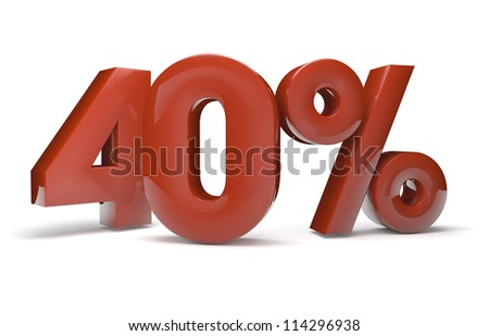 render of the text 40%